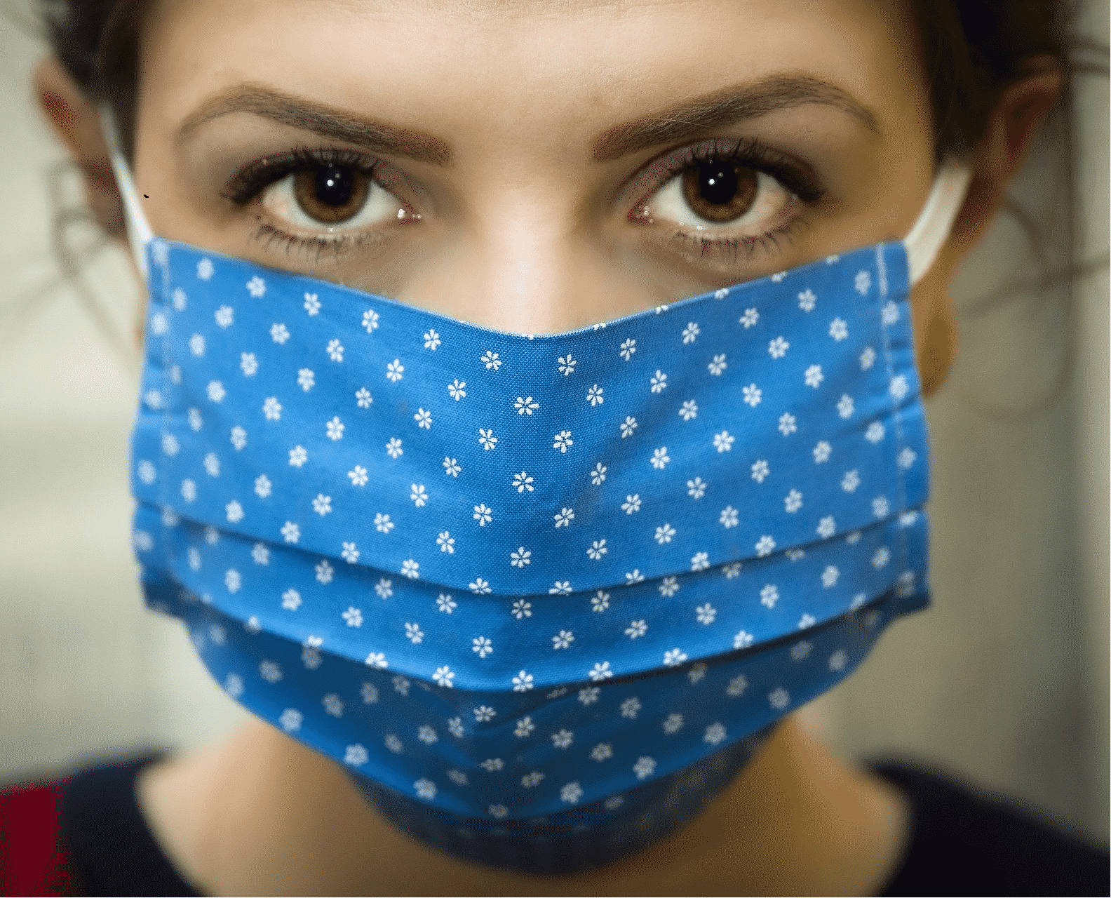 Gesichtsmaske Behelfs-Mund-Nasen-Maske OG 100% Baumwolle